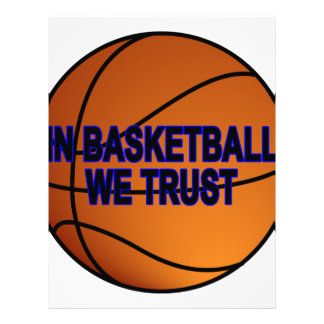 In Basketball we trust Women's T-Shirts.png Letterhead