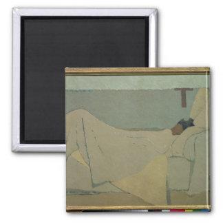 In Bed, 1891 Fridge Magnet