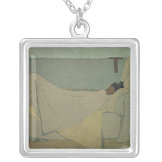 In Bed, 1891 Silver Plated Necklace