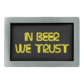 In beer we trust belt buckle