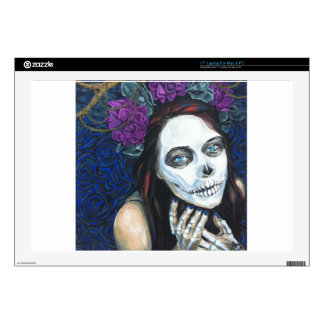 In Between, Day of the Dead Woman, Skull Make-up Decals For Laptops