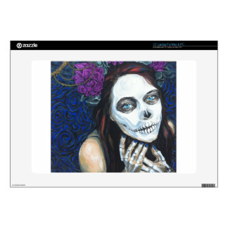 """In Between, Day of the Dead Woman, Skull Make-up Skin For 15"""" Laptop"""