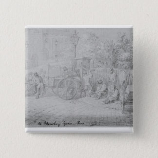 In Bloomsbury Square during the heat wave, 1828 Button