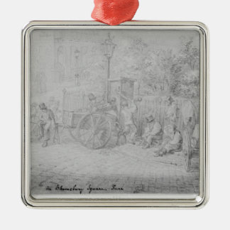 In Bloomsbury Square during the heat wave, 1828 Metal Ornament