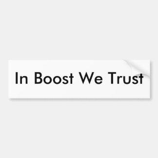 In Boost We Trust sticker