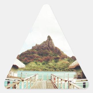 In Bora Bora Triangle Sticker