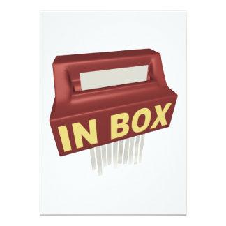 """In Box 5"""" X 7"""" Invitation Card"""