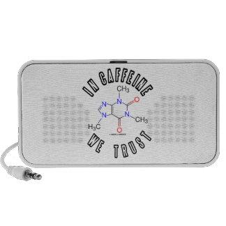 In Caffeine We Trust (Caffeine Molecule) iPod Speakers