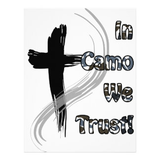 In Camo We Trust Gifts for Hunters Letterhead