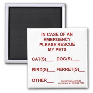 In Case of an Emergency Magnet (Pet)