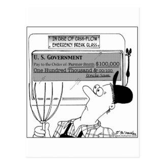 In Case of Cash-Flow Emergency Postcard
