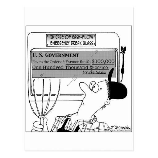 In Case of Cash-Flow Emergency Post Cards