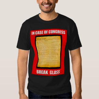 In Case Of Congress Break Glass (US Constitution) Tee Shirt