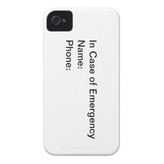 In CASE of Emergency iPhone 4 Covers