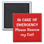 In Case of Emergency 2 Inch Square Magnet