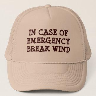 In Case Of Emergency Break Wind Trucker Hat