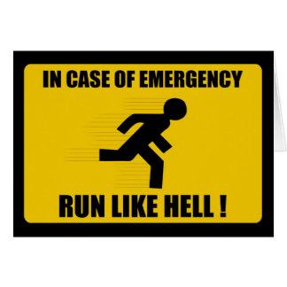 In case of Emergency Card