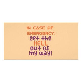In Case of Emergency... Card