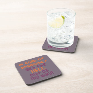 In Case of Emergency... Drink Coaster
