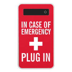 In Case Of Emergency Plug In Power Bank at Zazzle