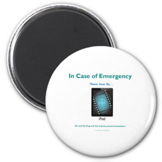 in case of emergency save my ipad magnet