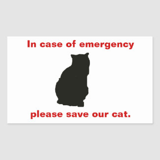 In case of emergency save our cat sticker