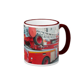 In case of fire Call 999 (UK) 911  (USA) 2 Coffee Mugs