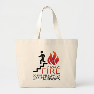 In Case of Fire Large Tote Bag