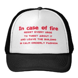 in case of fire resist urge to tweet trucker hat
