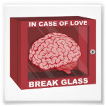 In Case Of Love, Break Glass and Use Brain Photo Print