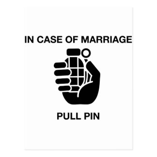IN CASE OF MARRIAGE, PULL PIN POSTCARD