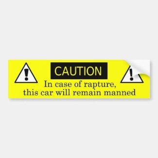 In case of rapture bumper stickers