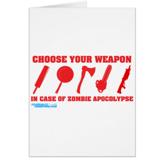 In Case Of Zombie Apocalypse Cards