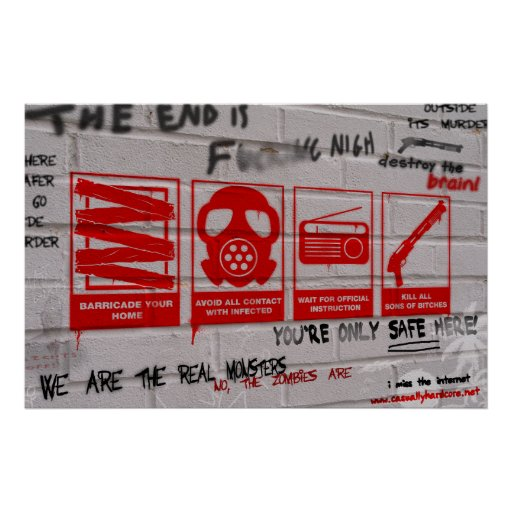 In Case Of Zombie Apocalypse Gamer Poster