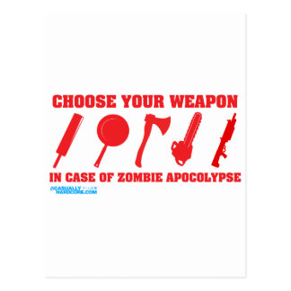 In Case Of Zombie Apocalypse Post Cards