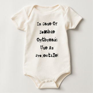 In Case Of Zombie Outbreak: Use As Projectile! Baby Bodysuit