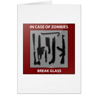 In Case Of Zombies Break Glass Card