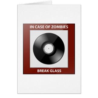 In Case Of Zombies Break Glass Cards