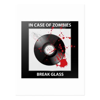 In Case Of Zombies Break Glass Postcard