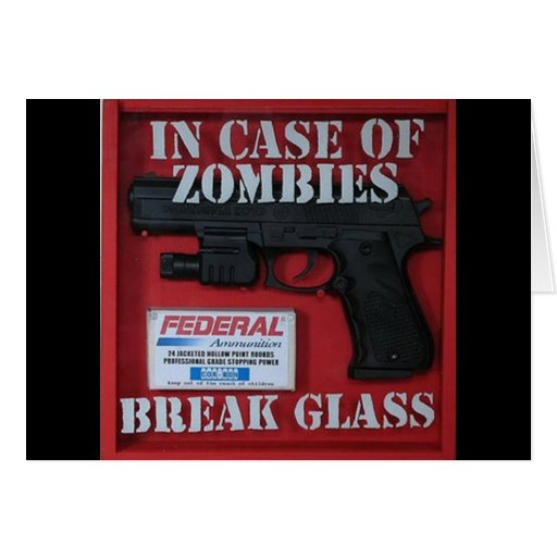 In Case of Zombies Card