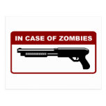 In Case Of Zombies Post Card