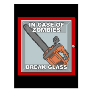 In Case of Zombies Postcard