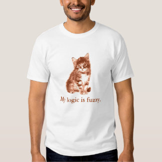 In case your cat is a logician (sepia) shirt