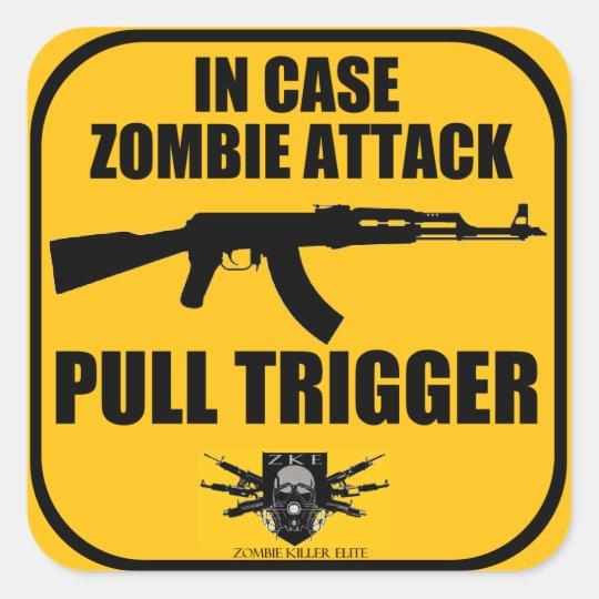 In Case Zombie attack Sticker
