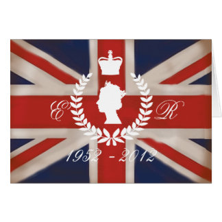 In Celebration of HM QE2 Diamond Jubilee Greeting Card