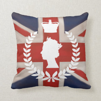 In Celebration of HM QE2 Diamond Jubilee Throw Pillow