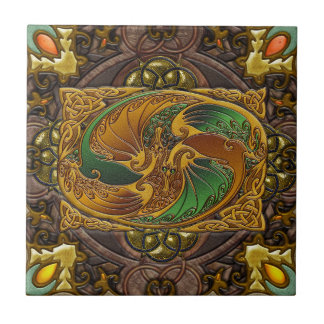 In Celtic Wood, by Joseph Maas Small Square Tile