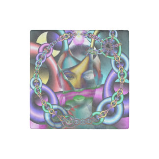 In Chains Stone Magnet