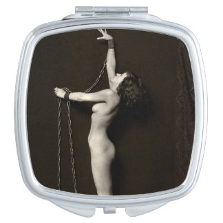 In Chains Vintage Nude Pin-Up Compact Mirror
