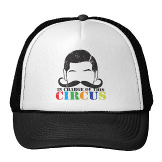 In charge of this circus distressed rough version trucker hat